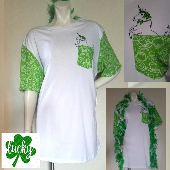 aadc7f8e Lucky Brand Tops - St. Patty's Day Green Lucky Brand Shirt +Boa ...